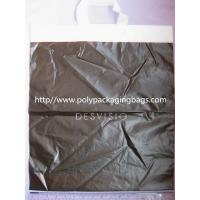 Black Reusable Soft Loop Handle Bag For Grocery , Shopping , Storage Manufactures