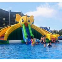 0.55mm PVC Tarpaulin Inflatable Water Toys Square Grass Outdoor Sports Theme Park Manufactures