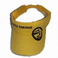 Men's Cotton Sports Visor with Screen Printing, Stone Washed Manufactures