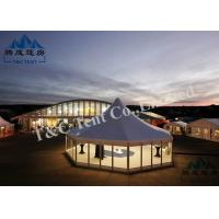 Portable Holiday Hotel Bell Tent With VIP Cassette Flooring / Double Wing Glass Door Manufactures