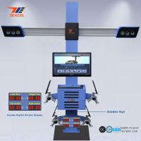 Two Monitor 3D Front End Alignment Equipment T58 Mobile For Cars With Four Cameras Manufactures