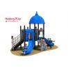 Castle Outlook Outdoor Playground Slides 510*320*390cm Innovative Design for sale