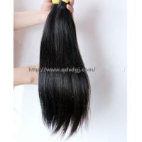 Double weft hot selling low price real unprocessed Chinese hair Manufactures