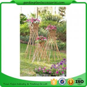 "Outdoor Bamboo Garden Willow Garden Trellis 4"" In Diameter On A 57-1/4"" H Stand Manufactures"