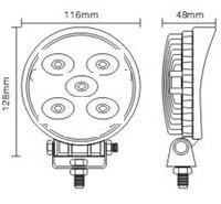 Quality 4 Inch High Lumen 15Watt Automotive Led Work Lights 12 Volt for road roller for sale
