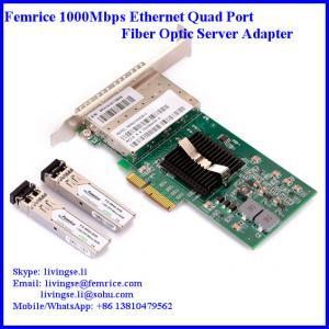 PCI Express x4 x8 x16, Quad Port 1000Mbps Server Network Adapter, SFP Slot LC Fiber Manufactures
