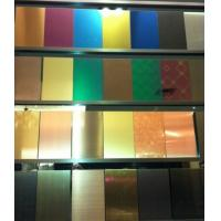 SUS316L Etching Colored Stainless Steel Sheets ,PVD Decoration Sheets 1250mm 1500mm Rose gold, Brown, Bronze, Black Manufactures