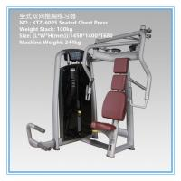Commercial Pin Loaded Gym Equipment , Chest Press Equipment Vapour Pressure Type Manufactures