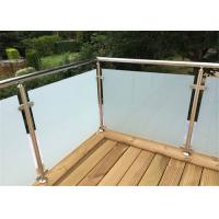 Outdoor Decking Stainless Steel Glass Railing Tempered Frosted Post Easy Installation Manufactures