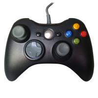Solid Black XBOX One Gamepad , Vibration Wired Game Controller Manufactures