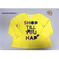 Customized Design T-Shirt Screen Print Long Sleeve 100% Cotton Baby Girl T-Shirt Manufactures
