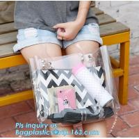 PVC Clear Glitter Chain Shoulder Bag, PVC Shoulder Plastic Beach Bag, clear pvc gift handbags, shoulder beach pvc bags Manufactures