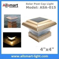 "4""x4"" inch Apricot Solar Post Cap Lights Solar Deck and Fence Lights 4"" Gate Posts Lamps Outdoor Solar Pillar Lights Manufactures"