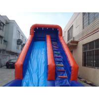 Exciting inflatable Interactive Games water slide with pool For Adults / Kids Manufactures