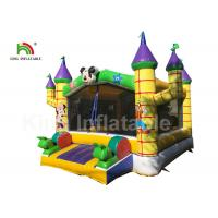 0.55mm PVC Combo Mickey Mouse Commercial Jumping Castles With Step Manufactures