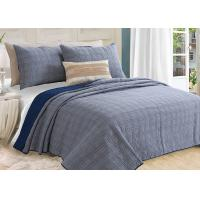 Washed Solid Geometric Bedspreads And Coverlets 3Pcs 100% Cotton For Home Manufactures
