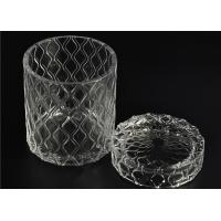 Beautiful Straight Wall Glass Cylinder Candle Holders For Candle Making Manufactures