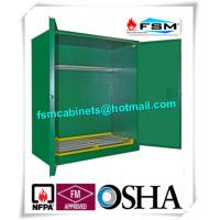 Green Hazardous Storage Cabinets , Dangerous Goods Storage Cabinets For Chemicals Manufactures