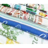 Pigment Printed Kitchen Tea Towels Quick Dry Soft Textile With Lightweight