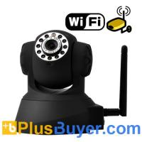 China IP Security Camera with Angle Control and Motion Detection (Black) on sale