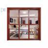 Buy cheap Heat Transfer Aluminium Sliding Windows Wood Grain Color Customzied Size from wholesalers