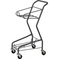 China Galvanized Supermarket Shopping Cart , Four Wheeled Basket Trolley HBE-J-7 on sale