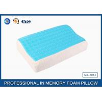 Softest Contour Dream Flat Memory Foam Pillow Stomach Sleeper , gel pillow case Manufactures