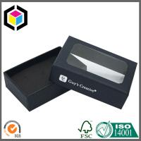 Handmade Small Product Packaging Box; Clear Plastic Window Gift Paper Box Manufactures