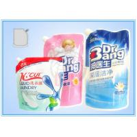 Colorful Stand Up Pouch , custom side spout Detergent Plastic Bags Manufactures