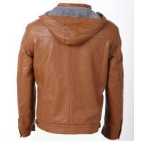 Buy cheap Charm men WITH Red and Urban, Luxury and Stylish Mens Hooded PU Leather Jacket from wholesalers