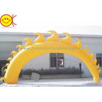 5m Yellow Sun Shape Oxford Fabric Inflatable Giant Arch With Blower For Event Manufactures