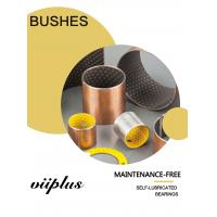Quality Maintenance-free Bushes with steel PTFE & POM backing Bearing Flanged Bushes Size for sale