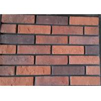 Steam - Crued Faux Brick Veneer Exterior Thickness 10-15mm With Cement / Pigment Manufactures