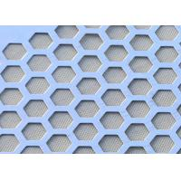 China Easy To Cut Hexagonal Perforated Sheet Metal  , Perforated Steel Sheet Long Working Life on sale