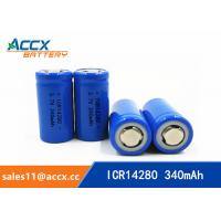 14280 li-ion small battery 3.7V 340mAh rechargebale 1-3C discharge lir14280 lithium ion battery Manufactures