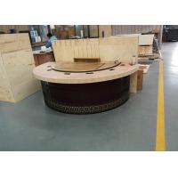 New Design Restaurant Teppanyaki Grill Table with Semi-circle Table Top Decoration Manufactures