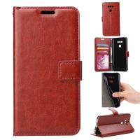 Quality LG G6 Crazy Horse LG Leather Case 63.6g Shock Absorbent Folio Wallet Style for sale
