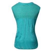 Quality Green Round Neck Linen Casual Ladies Clothing Sleeveless European Style for sale