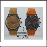 Colorful Waterproof Hand Watch  For Man , PU Band Classic Leather Watch Manufactures