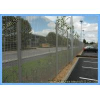 Prison Galvanized Anti - Climbing 358 Mesh Fencing / Security Fencing Panels Manufactures