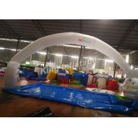 210D Nylon 10*5m White Unsealed Inflatable Arches For Event Or Advertising Manufactures