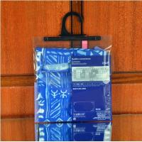 Quality Garment  Laminated Zip Plastic Poly Bag with Hanger Custom Printed for sale
