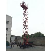 Ware House Using Motorized Scissor Lift 12m platform Height DC Lifting and Moving Manufactures
