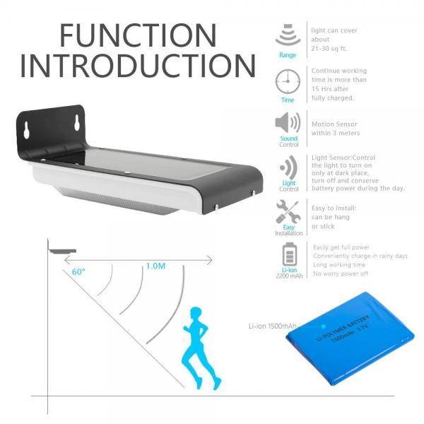 Quality High Bright solar powered motion sensor outdoor light 5000-6000K for sale