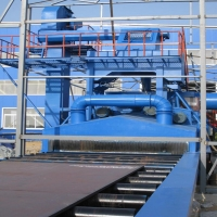 5T Steel Structure H Beam Trolley Type Shot Blasting Machine for Cleaning Manufactures