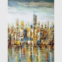 Contemporary Oil Paintings , Professional Modern Cityscape  Wall Canvas Paintingon