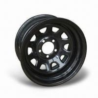Durable Passenger Vehicle Wheels with Black Color, Measures 13 x 4.5J, Comes in 8-D Style Manufactures