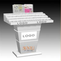 Custom Retail Flooring Display StandsAcrylic Storage Trays For MakeupPrinting Color Logo Manufactures