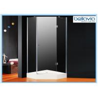 Tempered Glass Hinged Door Shower Enclosures Frameless 1850mm Height Manufactures