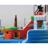 Quality 3 years warranty Outdoor inflatable pirate ship water slide with swimming pool, for sale
